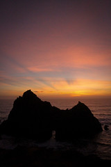 The last of the light has almost faded (Eliza Belle Photography) Tags: ocean california light sunset sky seascape beach nature beautiful last big state dusk shore sur fading pfeiffer