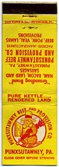 Groundhog Brand Pure Kettle-Rendered Lard (Alan Mays) Tags: old weather animals vintage ties ads advertising bacon holidays pittsburgh pennsylvania beef newspapers hats ephemera packers pa lard sausages lambs covers matches umbrellas advertisements logos matchbooks brands companies groundhogday manufacturers february2 hams bowties groundhogs provisions punxsutawneyphil jeffersoncounty predictions alleghenycounty punxsutawny matchbookcovers punxsutawnybeefandprovisioncompany goundhogbrand lionmatch addedtoip