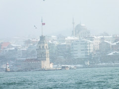 Istanbul in Winter (CyberMacs) Tags: winter sea snow nature weather turkey season other places istanbul deniz istambul bosphorus boaz constantinople maidenstower bosporus kzkulesi skdar leanderstower mdchenturm leanderturm towerofleandros othernames