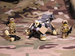 U.S. Army CAD (Bsstne) Tags: army spider us tank lego think m249 walkers m4 drone brickarms