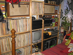 70s Audio Setup, Criterion Speakers (Our Thrift Apt.) Tags: wood records home vintage tv mod turntable retro collection stereo 70s collectible audio groovy shelves speakers flowerpower lps criterion 8trackplayer vintagestereo ikeaivar 70shome vintagestereosystem 70sstereo