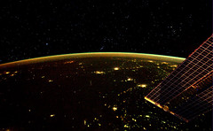 The Earth by night and the Orion constellation (europeanspaceagency) Tags: european agency orion iss esa europeanspaceagency andrekuipers promisse astroandre