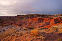 Last Light on the Painted Desert (Matt Champlin) Tags: life travel sunset arizona nature canon landscape outdoors amazing colorful desert painted dry az painteddesert 2010 petrifiedforest painteddesertarizona