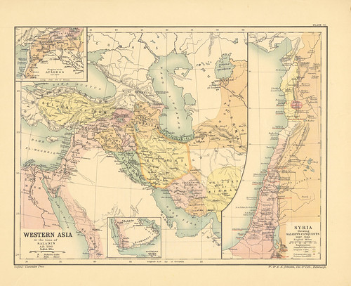 Map Page Of Section Lxxix Western Asia At The Time Of Saladin A D