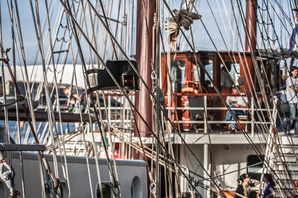 Tall Ship In Dublin Docklands - Artemis