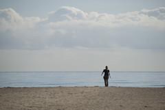 POR QU TE VAS? (ABUELA PINOCHO ) Tags: espaa mar mujer spain mediterraneo candid playa arena nubes pincel castellon caminando sentimiento robado alegoria burriana alejamiento alejandose