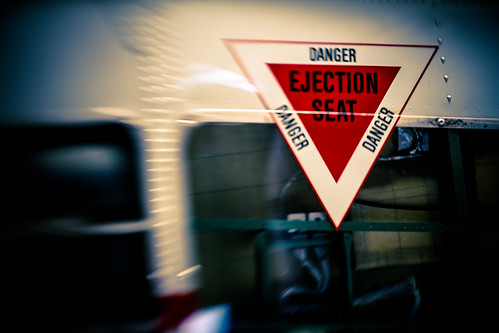Danger. Ejection seat