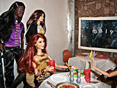 Doom and Destruction (Dia 777) Tags: friends dolls ken barbie pizza eat ninjas picnik hangingout bff chandra girlsnightout bodyguards louboutin mbili modelno14 dia777 barbiebasics20collection stardollbijou soinstylepastrychandra
