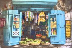 Grocer's shop (bag_lady) Tags: street food india building shop store trade groceries selling kolkata hdr shopfront westbengal earthasia dukander hartfordlane