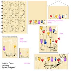 stationaryModernflower (LeneDaugaard) Tags: stationary patterndesign