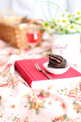 Start to the day (Helen.Yang) Tags: breakfast book cookie starttotheday