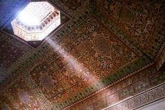 Bahia Palace Ceiling (Graham Gibson) Tags: city trek olympus palace panasonic morocco bahia marrakesh 20mm tepper f17 gf1 918mm