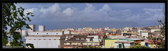 Landscape on the roof (stitching 5 pics) (PietroEsse) Tags: clouds landscape roofs stitching castellammaredistabia canonpowershots3is