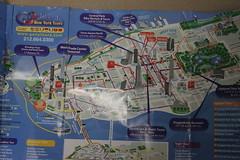 NYC New York City map of Lower Manhatten island. IMG_8061 2014-04-05 Sat CoB weekend (eddie.spaghetti) Tags: nyc newyorkcity tourism map weekend manhattan sightseeing tourist highlights manhattanisland photobyed