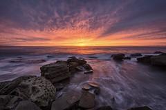 Colour Bomb (Crouchy69) Tags: ocean sea sky seascape motion water clouds sunrise landscape flow dawn coast rocks waves sydney australia mona vale headland