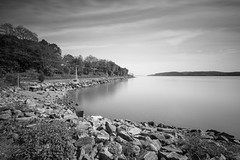Hudson Scenic Park (Jemlnlx) Tags: park county new york bw 3 ny canon river lens eos is angle state zoom mark iii wide scenic filter nd l 5d hudson usm irvington filters ef f4 stacked nys graduated density westchester neutral 1635mm gnd stiffen