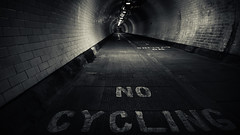 No Cycling (hammermad) Tags: london thames foot tunnel woolwich
