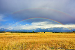 Double_Rainbow_02 (DonBantumPhotography.com) Tags: sky mountains nature clouds rainbow grasses doublerainbow sacramentovalley chicocalifornia nikond7200 donbantumphotographycom donbantumcom godspromisetomankind nikkornikon1024mmlens