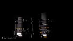 Two Leica 50s (shigzeo) Tags: leica reflection 50mm summicron fujifilm productphotography leicam gx680iii summiluxm11450e46