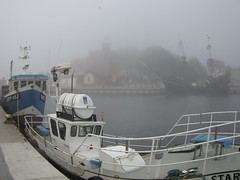 Boats and misty air (navarrodave80) Tags: misty fog dave canon boats harbour fisheye ustka chmiel