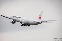 Japan Airlines --- Boeing 777-300ER --- JA740J (Drinu C) Tags: adrianciliaphotography sony dsc hx100v plane aircraft aviation lhr egll japanairlines boeing 777300er ja740j 777