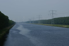 Zeeland (Sean Anderson Classic Photography) Tags: canal minolta sony zeeland powerlines af pylons f4 windturbines a700 3570 minolta3570f4 sonya700