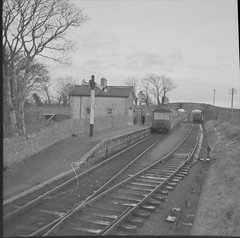 December 5, 1961 (National Library of Ireland on The Commons) Tags: bridge ireland station december tracks arches trains trainstation 1960s signal railways tipperary sixties munster 1961 railroads stationmaster horseandjockey nationallibraryofireland corasiompairireann ci jamespodea odeacollection anmarcach