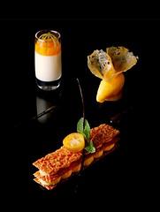Florentin aux Agrumes en millefeuille - Vertig'O restaurant - Hotel de la Paix (Concorde Hotels Resorts) Tags: restaurant desserts hoteldelapaix vertigorestaurant