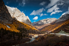 Autumn view of Yading (CoolbieRe) Tags: china nature landscape shangrila 2010 landscapephotography