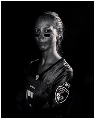 Ravens Girl (Jay Lessard) Tags: white black silver football nfl joe baltimore pro ravens efex flacco