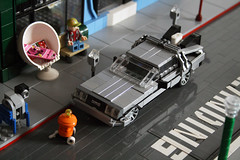 "Hill Valley 2015 (""Orion Pax"") Tags: lego hill valley delorean 2015"