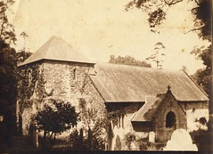 Church in the village of St. John in Cornwall, England - 1908 (Aussie~mobs) Tags: church vintage cornwall stjohn churchyard villagechurch henrymobsby earlyqueenslandphotographers