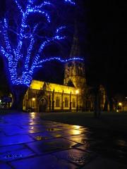 Christmas Spire (MTB1975) Tags: christmas winter church night lights worship derbyshire spire chesterfield crooked crookedspire thecrookedspire