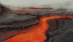 (Anna Bandit) Tags: illustration photoshop painting lava