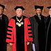 Robert G. Stanton, Chancellor Randy Woodson, Dr. Rajendra Pachauri and Rev. Ray A. Buchanan pose for photos prior to commencement.