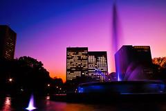Twilight in Hibiya Park (punipuki) Tags: city sunset water fountain japan night tokyo sigma slowshutter  nightscene hibiya  slowwater dp1x