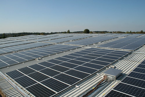 rooftop solar panels by h080, on Flickr