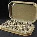4007. Antique Cased Set of Sterling Salt & Peppers