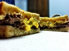 365 Days Project 164/365: Steak, Egg and Cheese on Sour Dough Toasted Bread - Young's Deli, Sterling, VA (_BuBBy_) Tags: food cheese breakfast bread eating dough awesome egg tasty sandwich delicious eat steak va deli sterling ate sour tastey toasted youngs frigging