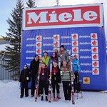 Miele BC Cup Giant Slalom, Nakiska - all the medal winners and most improved, GS days 1 and 2, with Jan Heck, Miele CEO PHOTO CREDIT: Gregor Druzina