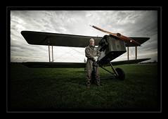 Frequent flyer.. (jetbluestone) Tags: cloud flyer pilot prop biplane strobist