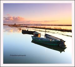 """Cuatro barcas"" (Pepelahuerta) Tags: paisajes valencia boats raw lagos cielos barcas lakers reflejos canon1740 arrozales laalbufera leefilters canon40d ultraangulares pepelahuerta"
