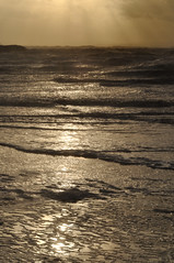 CrosbyBeach1 (LJGort Photography) Tags: sea sun men beach clouds reflections iron waves rays crosby