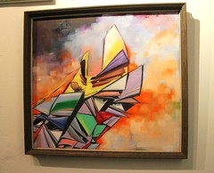 """Painting by David """"COVE"""" Gonzalez (fotoflow / Oscar Arriola) Tags: show usa chicago david art america painting us illinois artwork inn midwest artist gallery cove united fast exhibition il american believe painter dreams opening states gonzalez hold bucktown"""