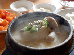 Korean Ginseng Chicken Soup   (Darren C. Wang) Tags: fuji korea seoul fujifilm    x10      koreanginsengchickensoup