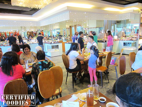 Cabalen Eat All You Can Buffet area, view from our table at their Trinoma branch