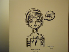 Scene Kid No. 1 (saltehmix) Tags: tattoo punk emo guages piercings lineart linedrawing gauges inkart stretchedlobes