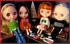 enjoying some holiday treats among friends.....