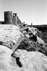 Hovenweep (Peter Gutierrez) Tags: usa southwest west building tower film archaeology monument america buildings utah us photo ut ruins colorado village top indian south united towers pueblo ruin villages canyon southern boulders peter national american era western builders gutierrez americana indians states rim rims monuments prehistoric archaeological paleo tops canyons mesa balanced anasazi mesas southwestern ruined hovenweep puebloan paleoindian paleoindians petergutierrez