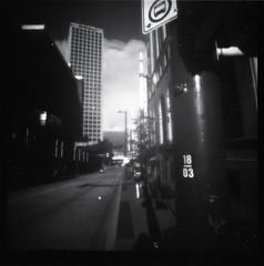 18 thirds (Beaulawrence) Tags: street camera light red white canada black building bus tower fall classic 120 6x6 film window architecture vancouver clouds rollei analog skyscraper vintage square concrete lomo lomography october downtown bc power angle squares granville flash grain wide columbia scan retro 03 september pole plastic diana stop filter f 400 infrared 70s roll british medium format asa 18 remake reproduction province 2011 sooc